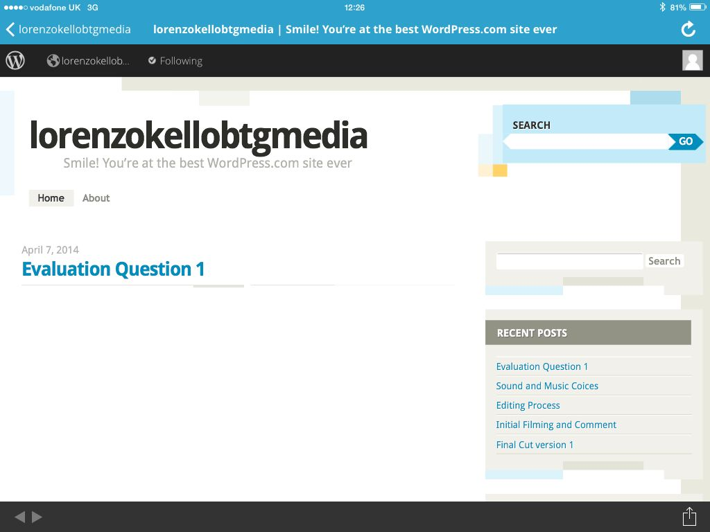Wordpress Is A The Blogging Application For My Production Blog In