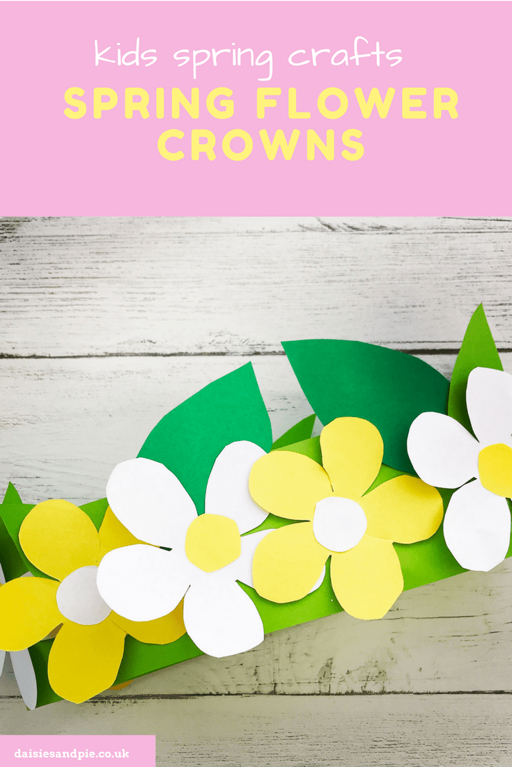 Spring Flower Crown Craft For Kids Spring Crafts For Kids