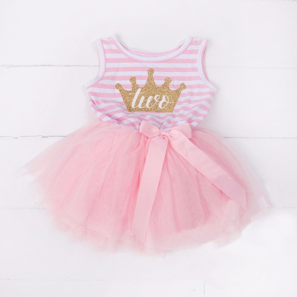 Adorable girl birthday dress for y newborn baby girl clothes