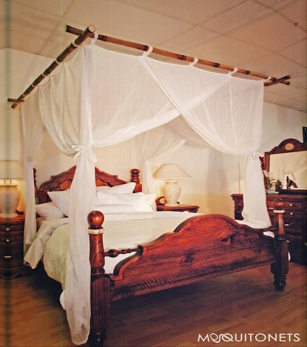 Deluxe cotton box shaped mosquito net bed canopy for King and California King size bed. & Mosquito Net Bed Canopy. COTTON (CBX) | Future home ideas ...