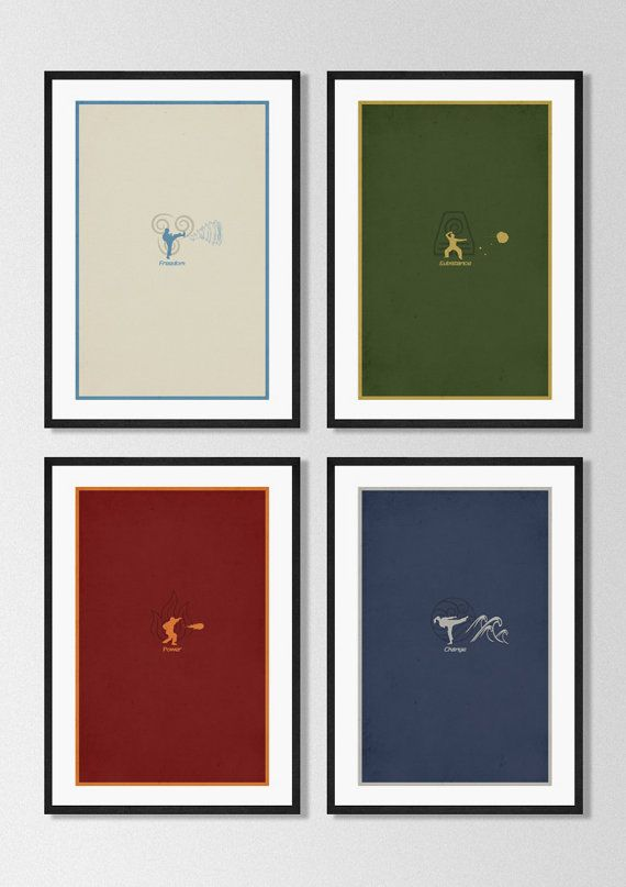 Avatar The Last Airbender Poster Set Minimalist Posters Etsy Minimalist Poster The Last Airbender Poster Prints