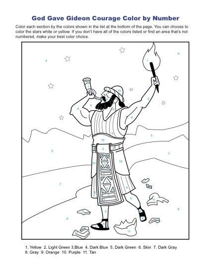 gideon printable coloring pages - photo#36