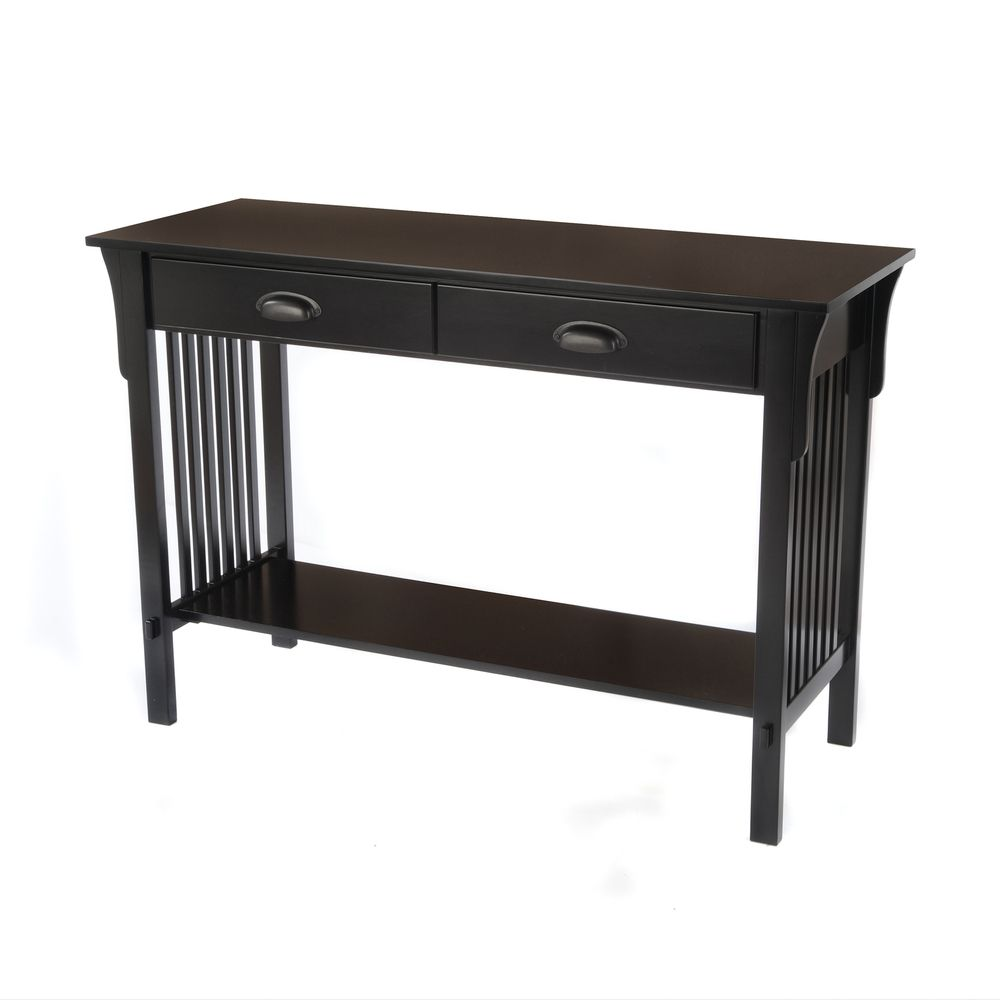 Bianco collection mission black sofa console table more console bianco collection mission black sofa console table geotapseo Images