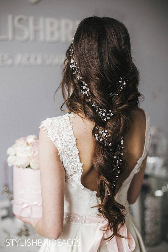 Свадебная мода: Потрясающие свадебные прически — 2019 #saçstilleri