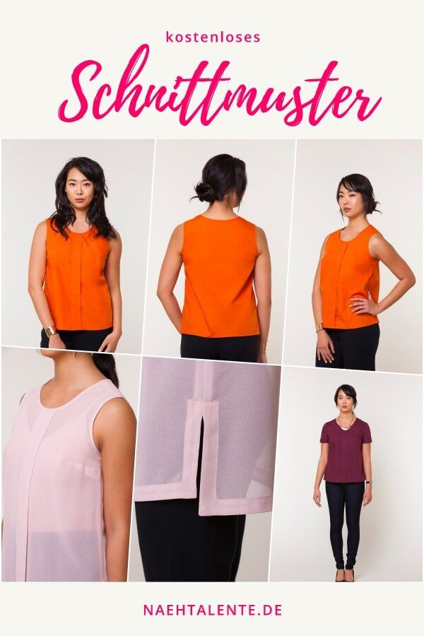 Sorbetto Top - Das TOP aus Webware | Free pattern and Patterns