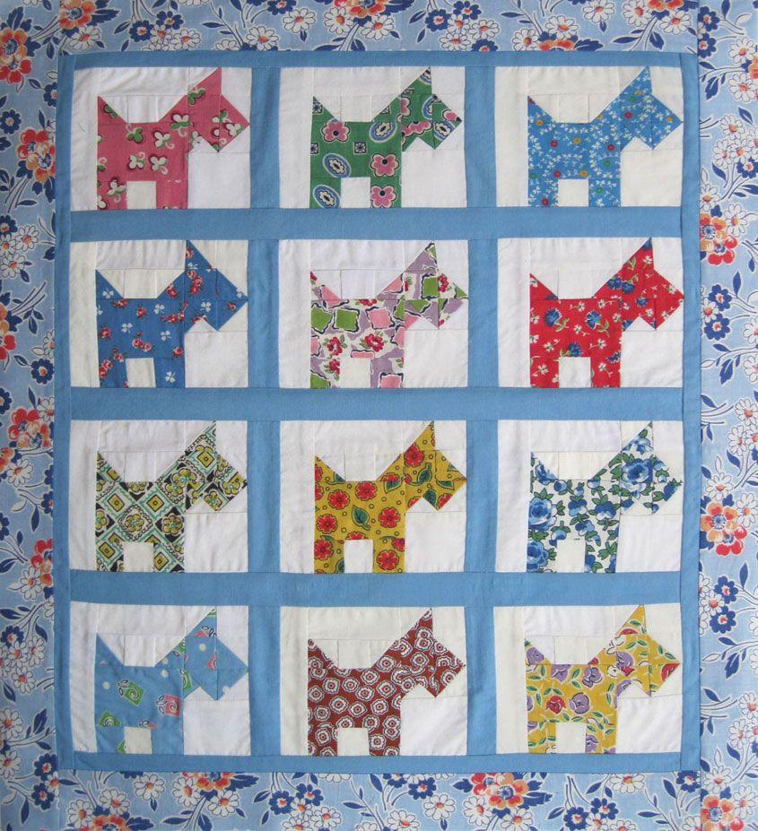 Martha's scottie dog doll quilt (not vintage, but awesome ... : scottie quilt pattern - Adamdwight.com