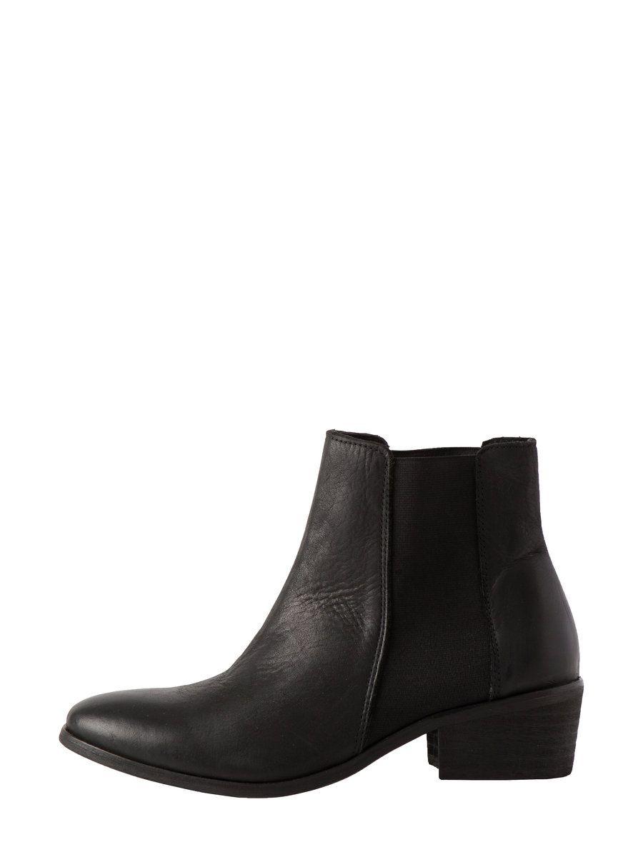 Kort Laeder Stovler Black Boots Leather Chelsea Boots Black Boots