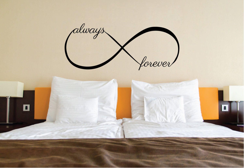 Wall Vinyl Decal Sticker Family Kids Room Forever Hope Love Infinity Faith
