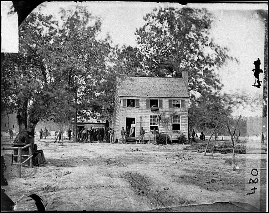 A House On Seven Pines Battlefield Used As A Hospital 1862