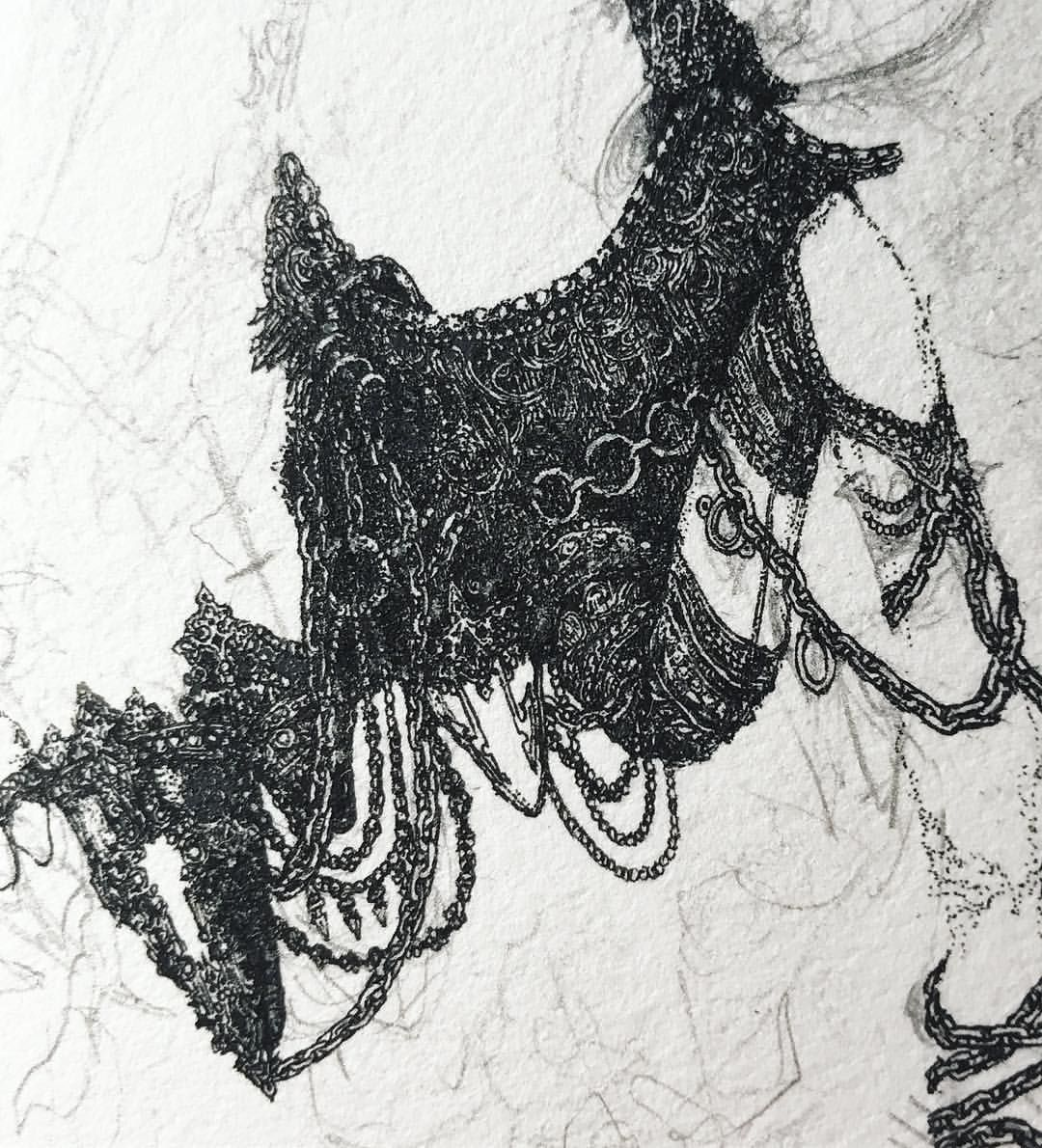 Kali Alida On Instagram Gilded Arachnid Incendiary Seething Crystalline Corrosive Lesions 2 5 Inches The Moose Art Freedom From The Known Humanoid Sketch