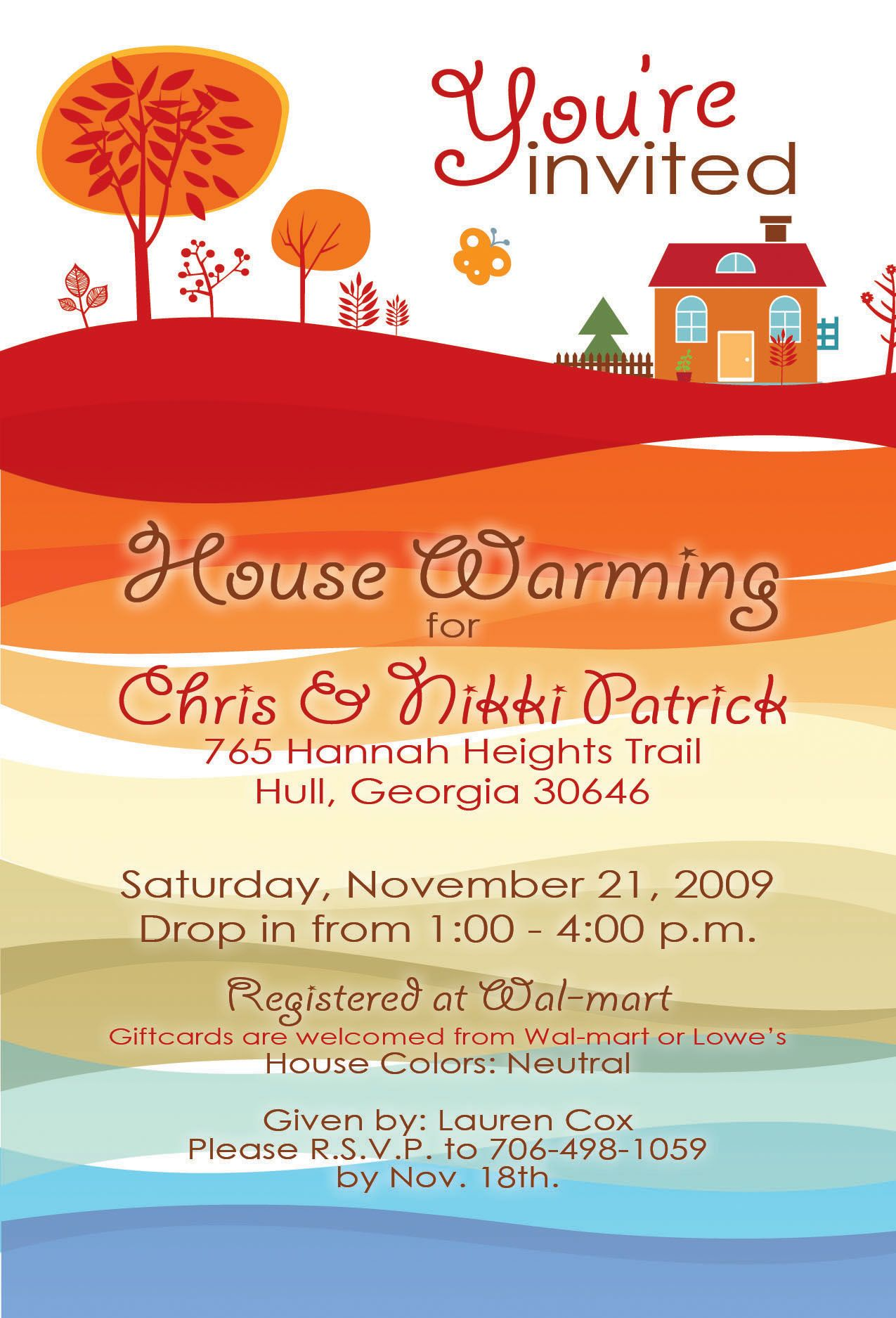 Sample house warming invitation house warming invitation designs sample house warming invitation house warming invitation designs by lauren cox stopboris Image collections