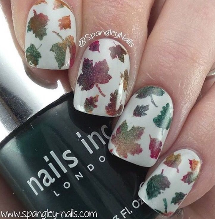 Autumn Leaf Nail Stencils | Nail stencils, Autumn nails and Stenciling