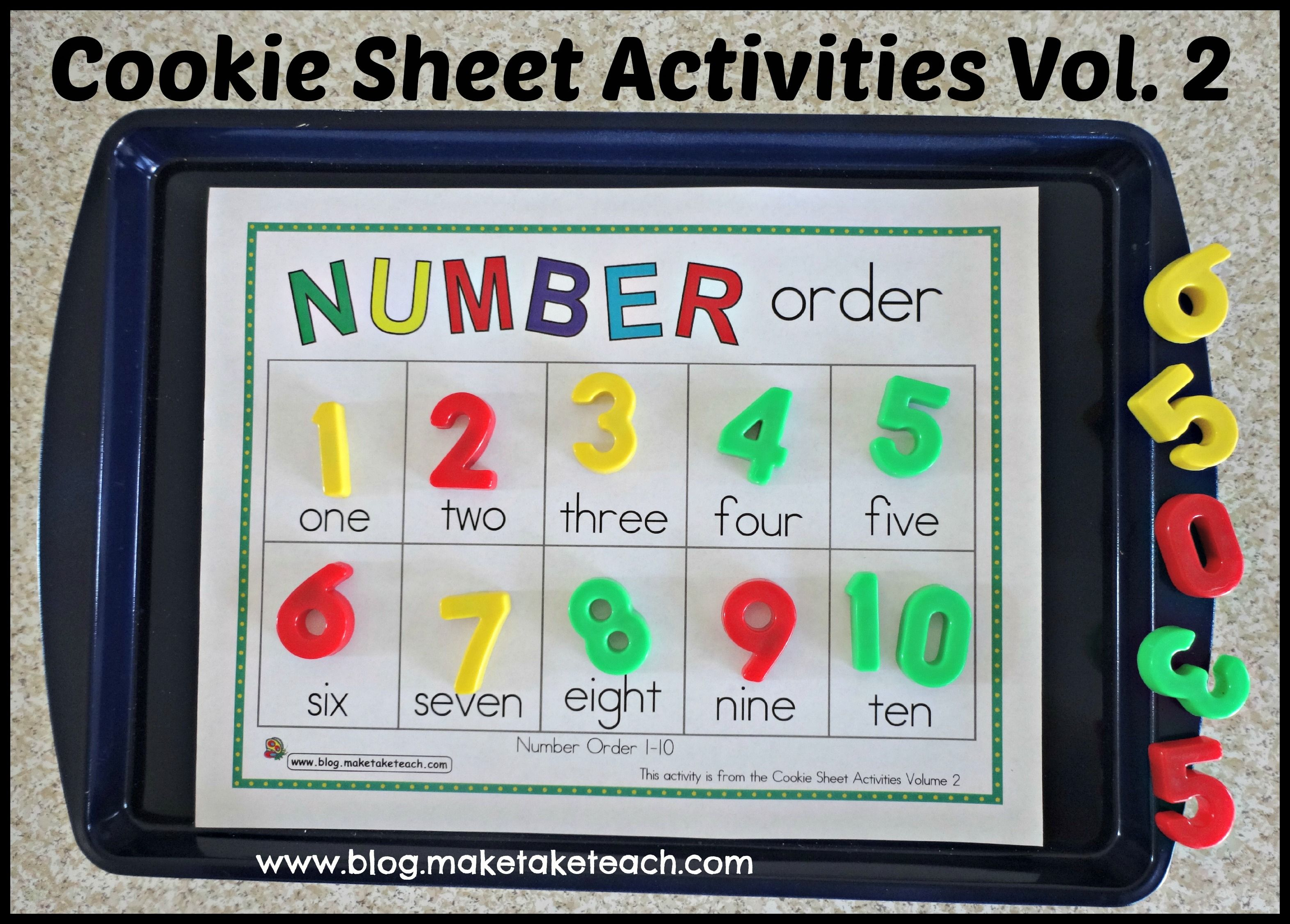 Cookie Sheet Activities Pre K Kindergarten Bundle With