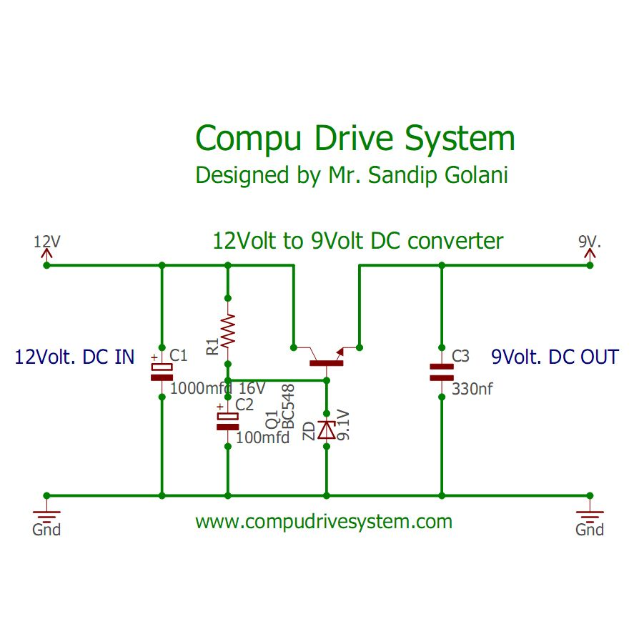 small resolution of hi i am really happy to see you all my circuits idea another simple circuit use of a zener diode a bc548 transistor convert 12v dc to 9v dc