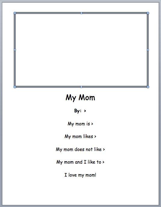 2nd Grade Mom Poem Template First Grade Writing Poem Template Mothers Day Poems