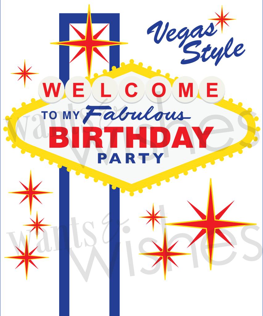 Casino/ Vegas Birthday Party- Welcome to my Fabulous Birthday! | Deb ...