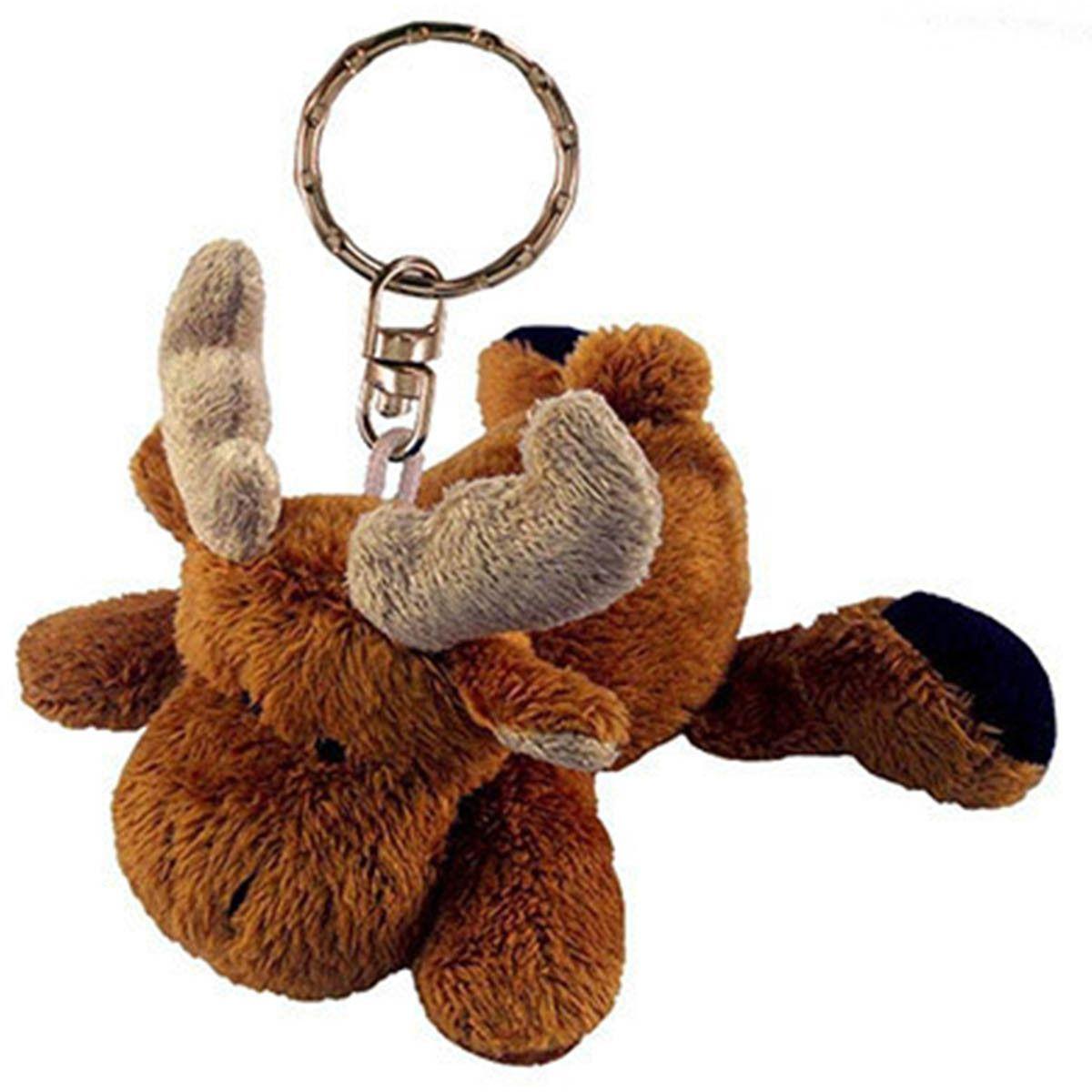 Moose Plush Keychain Plush stuffed animals, Keychain