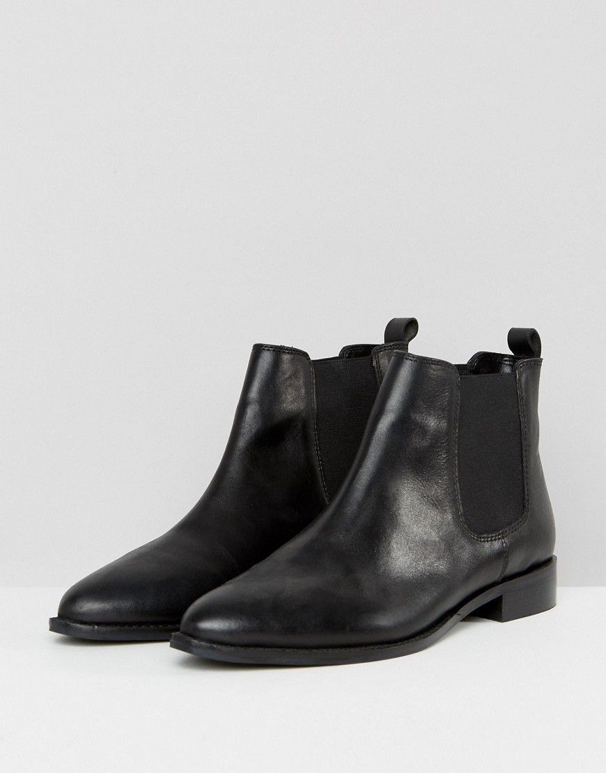 1a4882354b4e ASOS AUTOMATIC Wide Fit Leather Chelsea Boots - Black