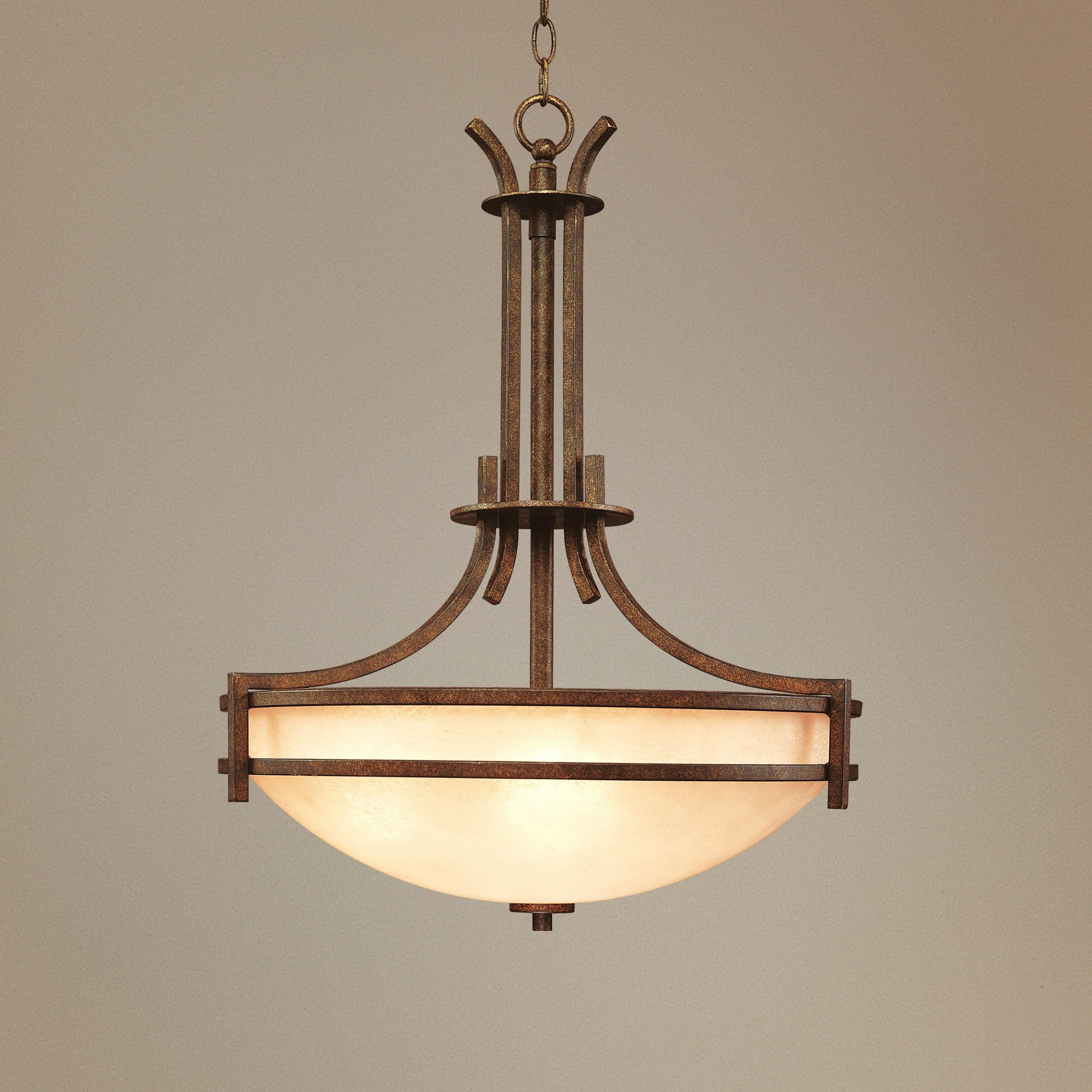 California Mission Style Pendant Chandelier