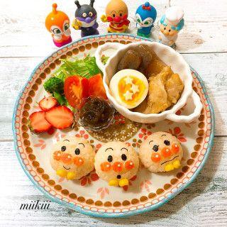 アンパンマンのキャラプレート 2歳 誕生日 料理 キュートな料理 お子様ランチ プレート
