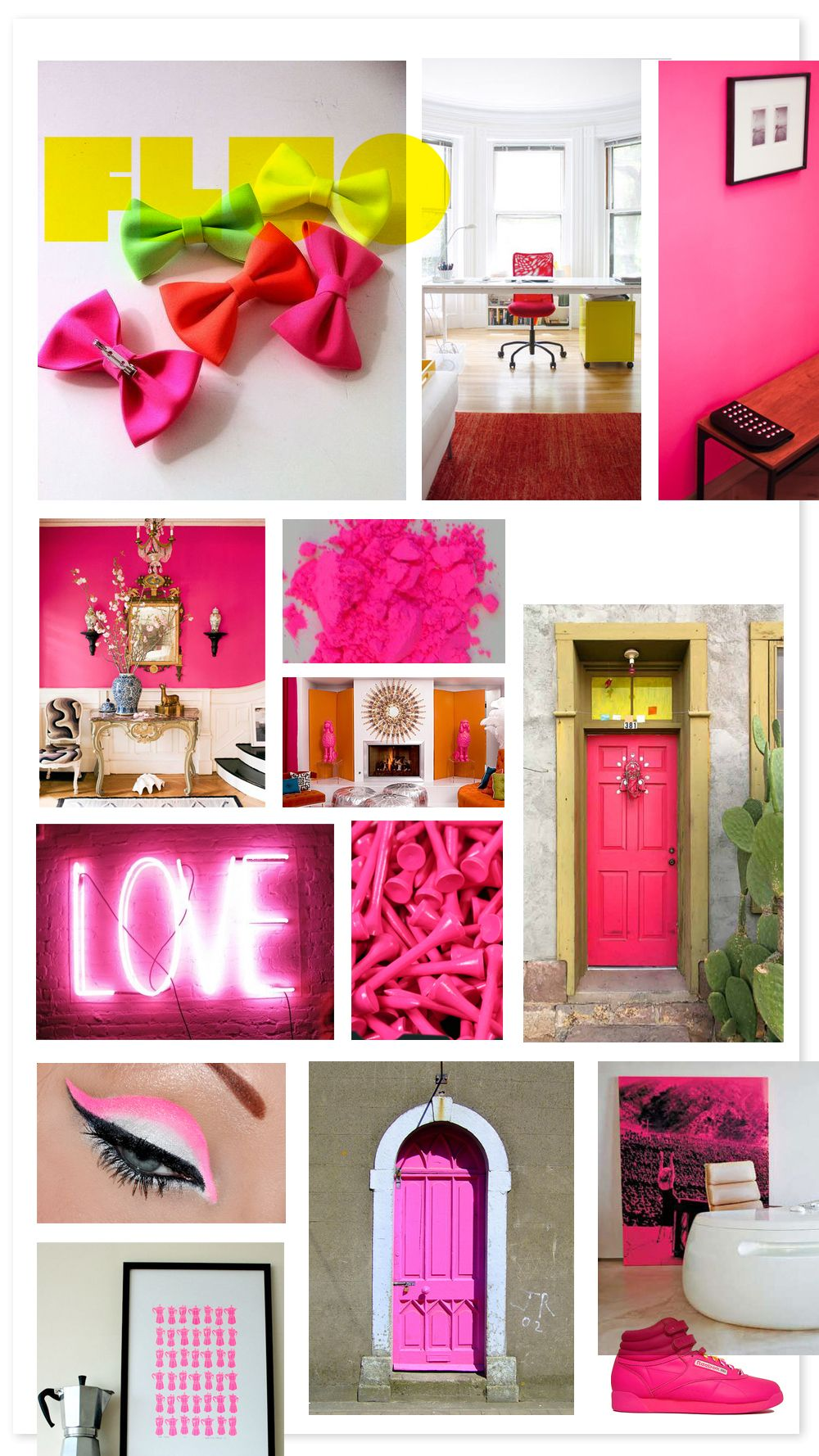 fluor, neon, pink, green, yellow, orange, colors | Bolso rosa ...