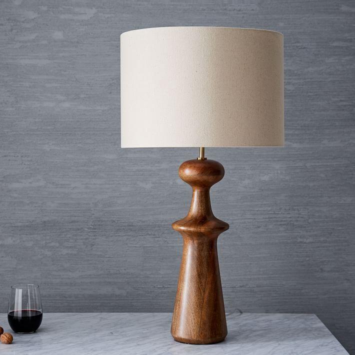 Turned Wood Table Lamp Tall Table Lamp Wood Wood Lamps Wood