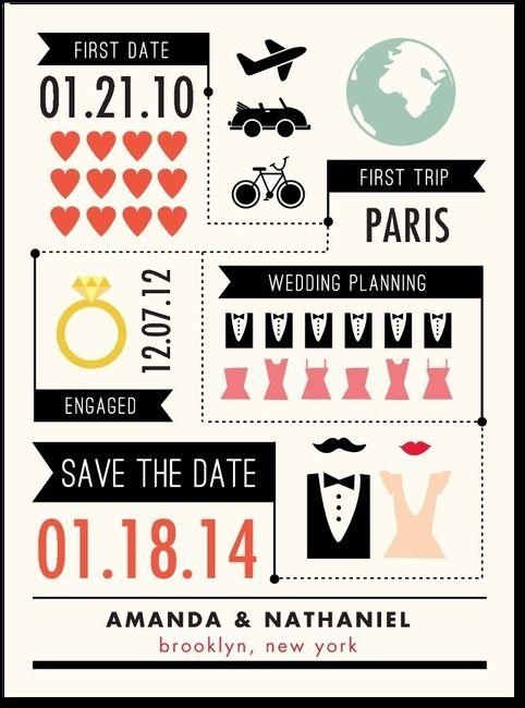 Chic Infographic Save the DatePearl from weddingpaperdivascom