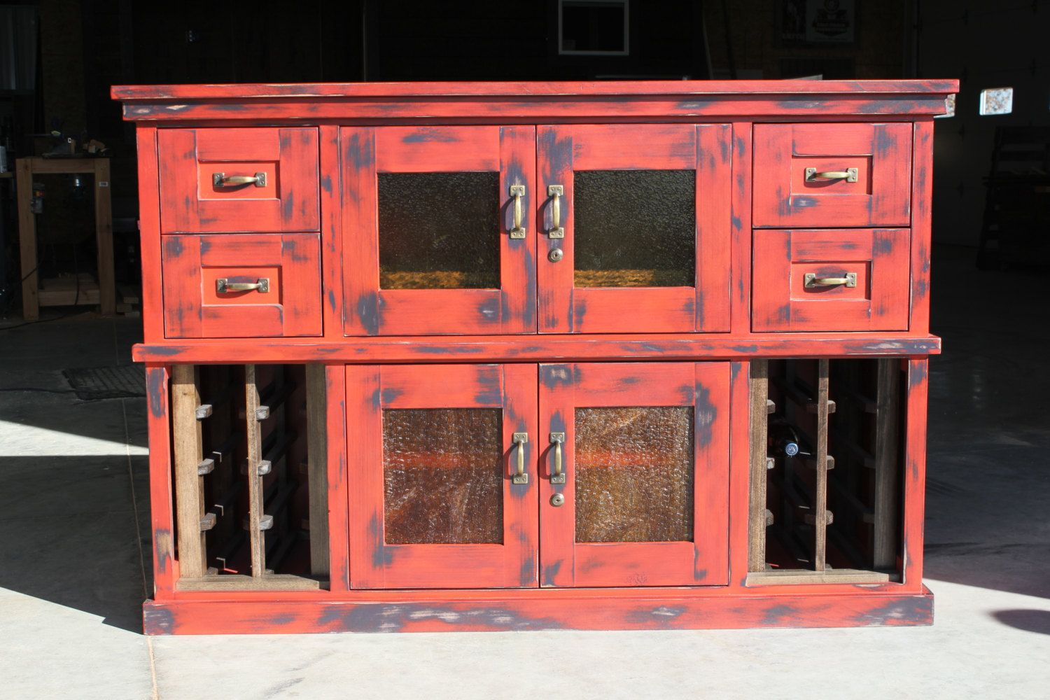 Distressed Liquor Storage Cabinet by ColeTrainProductions ...