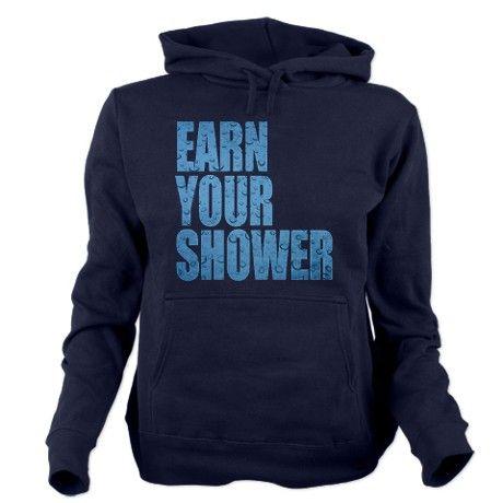 Earn Your Shower Hooded Sweatshirt #fitness #motivation #hoodie
