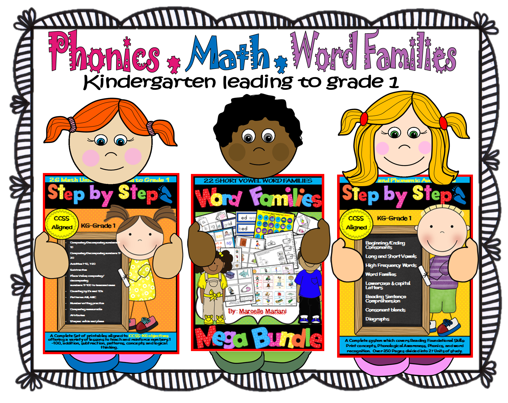 A Year S Worth Of Phonics Math And Word Families For