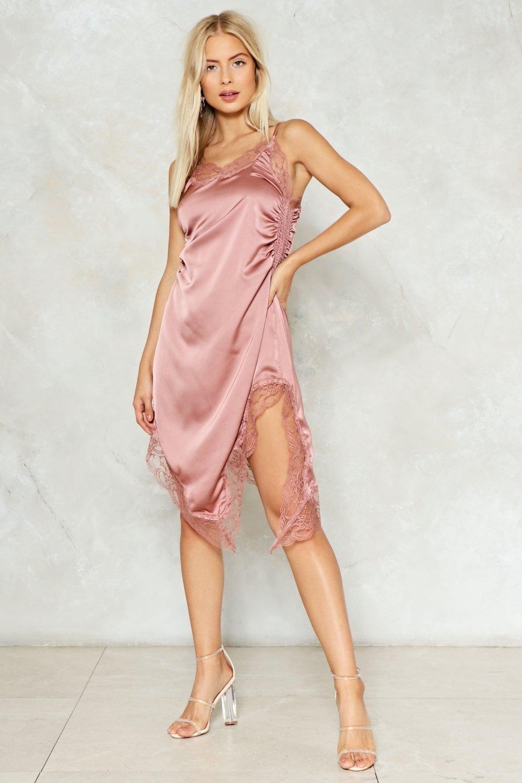 Read My Slip Satin Dress