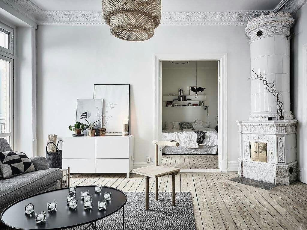 Amazing fireplace intricate mouldings Ikea lighting light