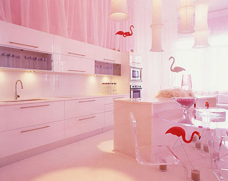 amazing pink kitchen cabinets | Ashlynns board | Pinterest | Pink ...