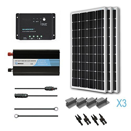 Renogy 300 Watt 12 Volt Monocrystalline Solar Battery Ready Kit With Wanderer Charge Controller You Can Get Additio Solar Kit Solar Panels Solar Power Panels