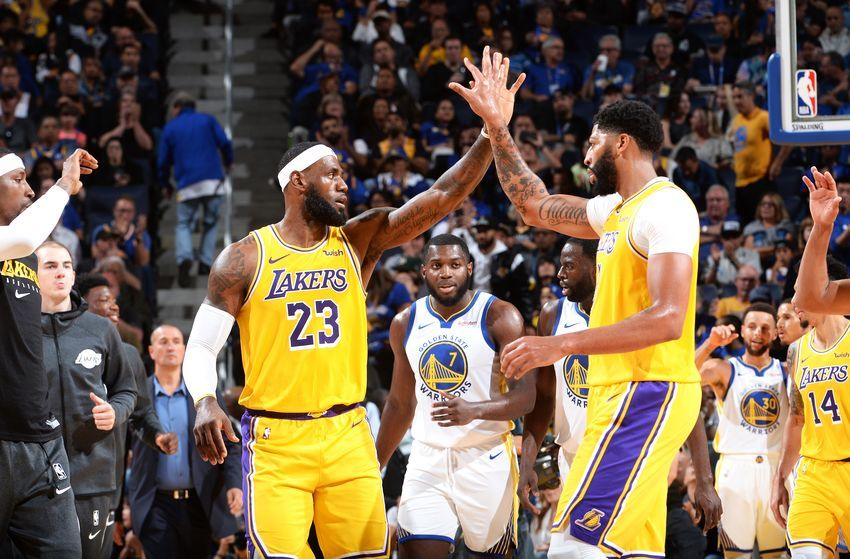 Los Angeles Lakers 4 Lessons In Preseason Win Over Golden State Warriors Nba Lakeshow Los Angeles Lakers Anthony Davis Lebron James