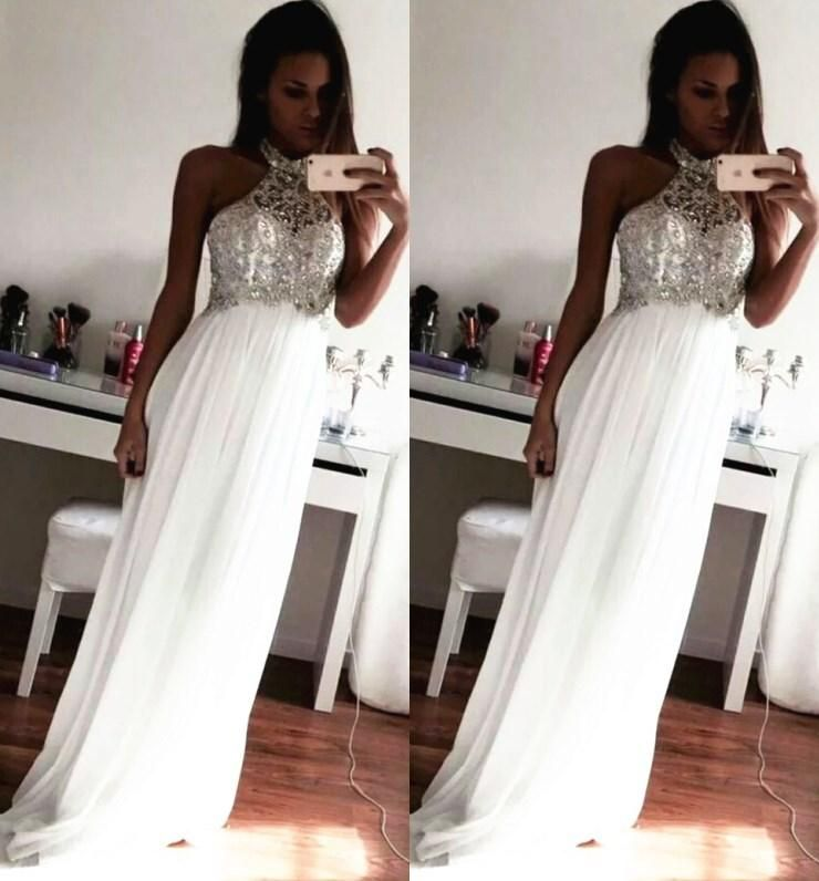 Cheap 2015 Prom Dresses Crystal Beading Formal Evening Gowns Sheath