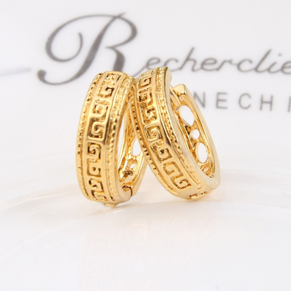 Bangrui Gold Color Ear Hook Stud Earrings Jewelry for Men Women ...