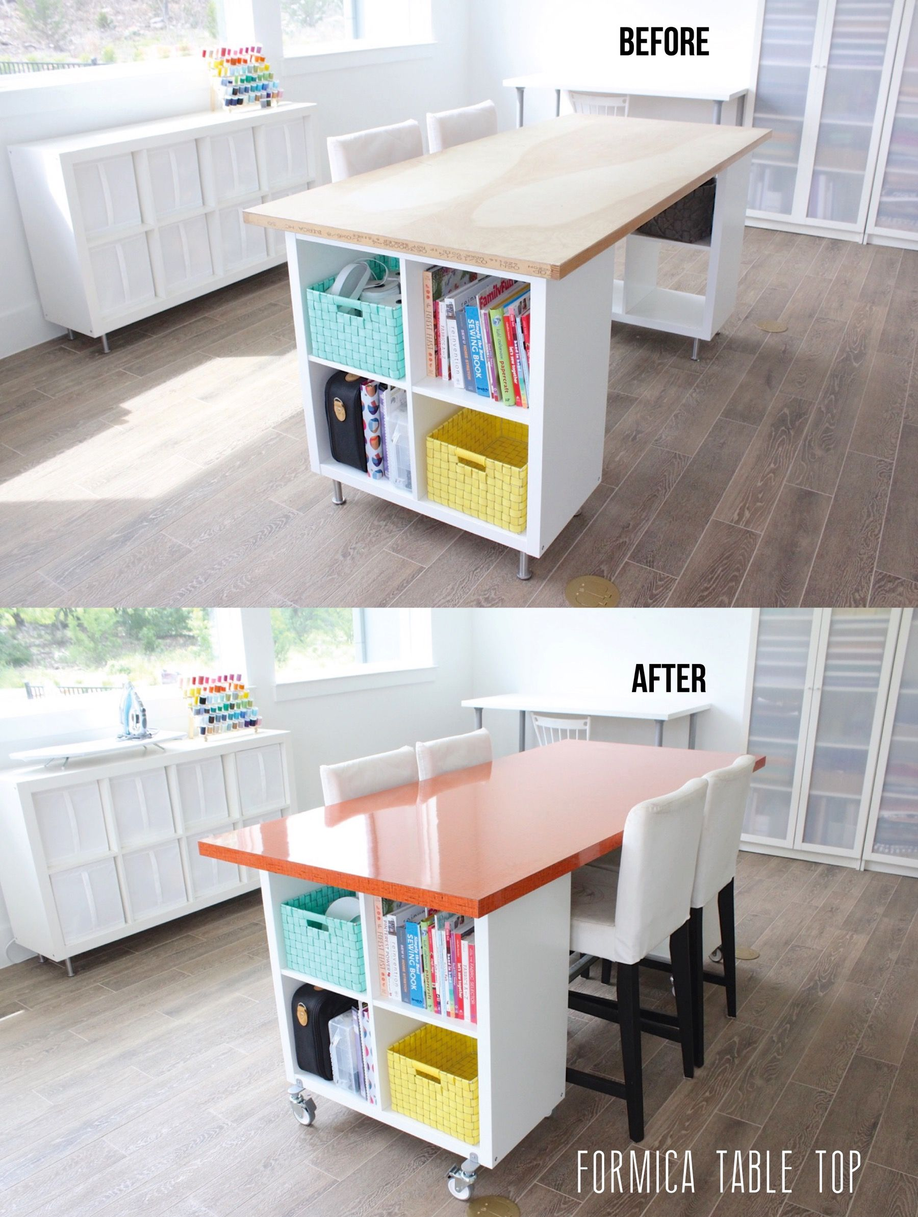 Before And After Diy Craft Table Sewing Room Design Craft Room