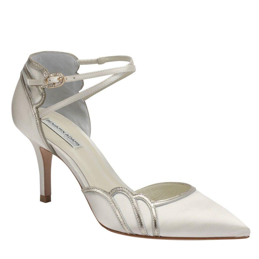Ivory Benjamin Adams Lillian Bridal Shoes http//www