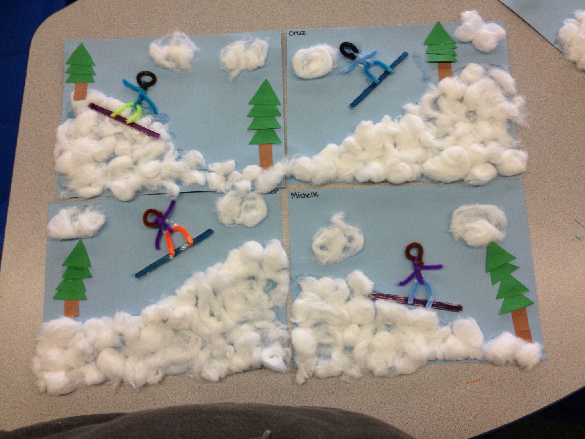 Olympics Snowboarding Preschool Craft