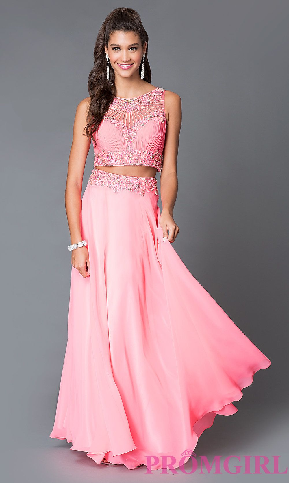 660105dcb4 Buy Two Piece 2082 Dave and Johnny Prom Dress at PromGirl Long Formal Gowns