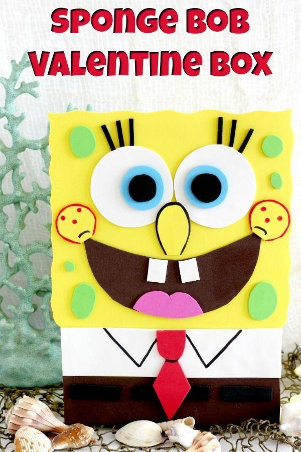 SpongeBob Valentine Box (with printable template ...