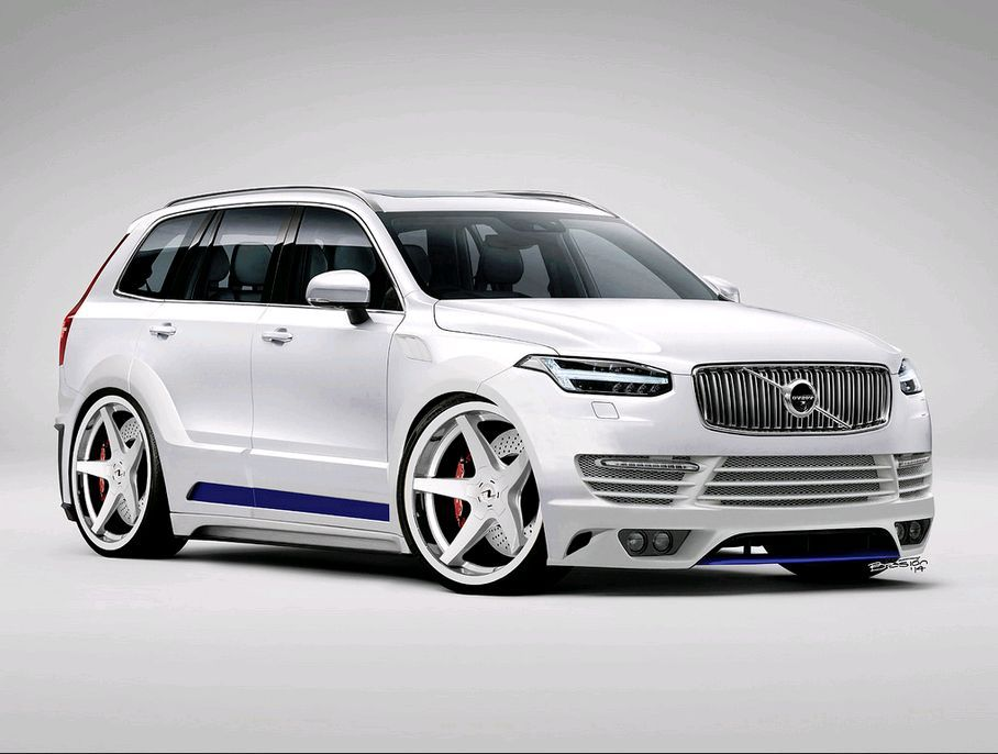 modified xc90 rendered by luis baston virtual volvos. Black Bedroom Furniture Sets. Home Design Ideas