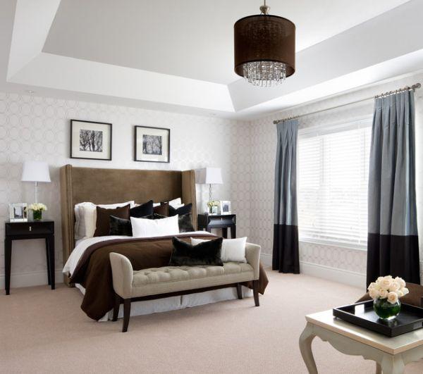 bett bank grau vorhänge idee möbel Wohninspirationen Pinterest - schone betten moderne schlafzimmer