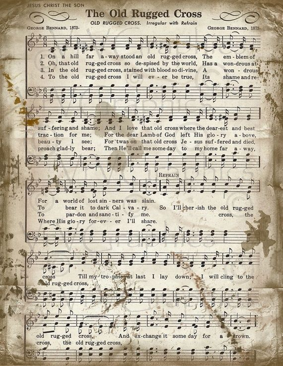 image relating to Old Rugged Cross Printable Sheet Music named the previous rugged cross no cost piano sheet tunes - Google Glimpse