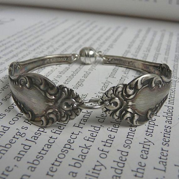 Spoon Bracelet Antique Silverware Jewelry Silver Size von Revisions