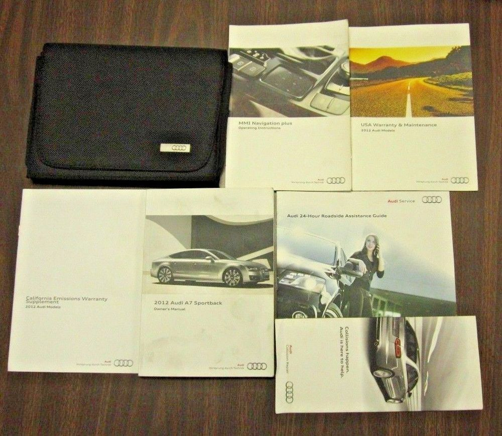 12 Audi A7 Books Owners Manual With Case Oem Auto Parts