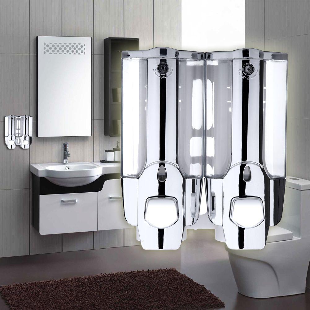 dualend soap dispenser wall mount shower bath hand shampoo dispenser holder container for bathroom washroom accessories