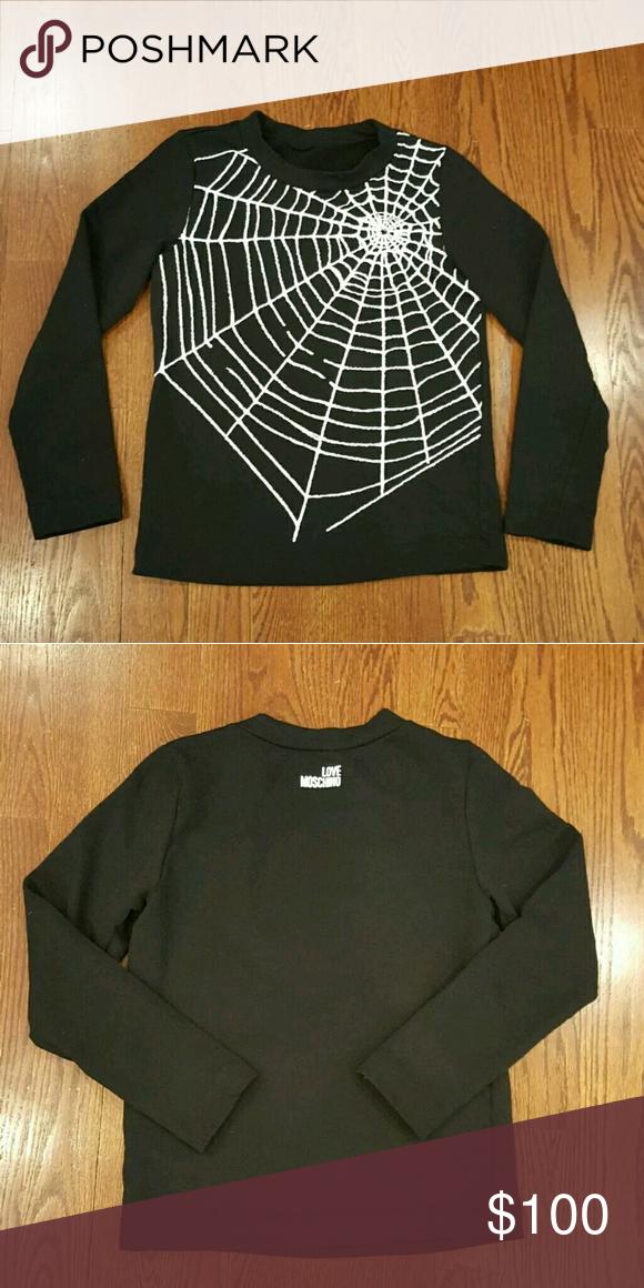 Love Moschino Spider Web Sweatshirt Authentic Love Moschino Spider Web Sweatshirt in black. Size M. Excellent condition. Love Moschino Tops Sweatshirts & Hoodies