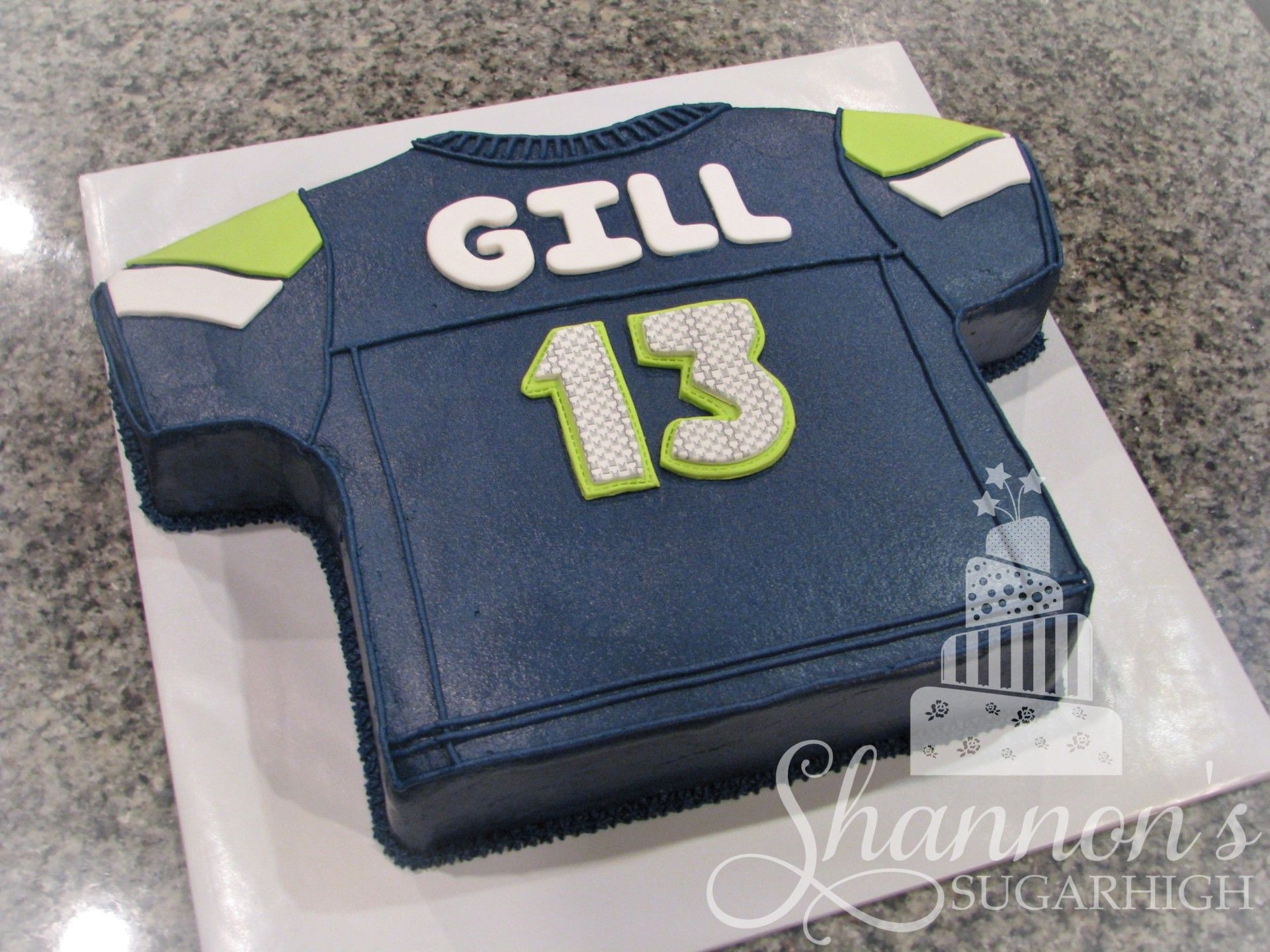 Seattle Seahawks Football Jersey Cake For A Boy Turning 13